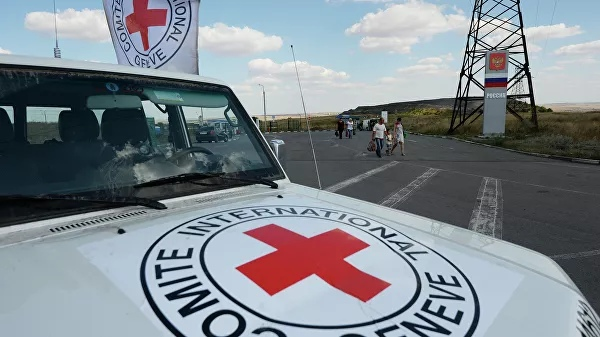 The Red Cross sent four trucks to Donbass to help