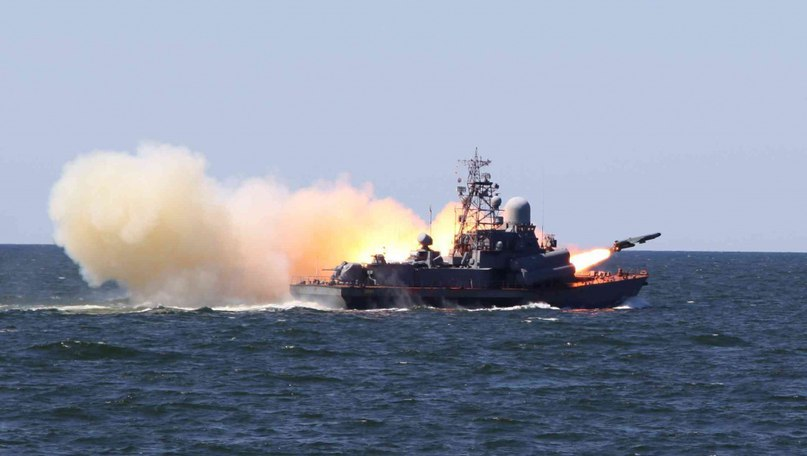 Ships of the Black Sea Fleet conducted exercises in the Black Sea