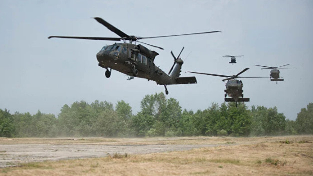 Nine US Air Force attack helicopters arrive in Lithuania for exercise