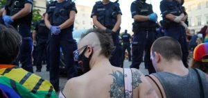 Polish homosexuals staged a massive fight with the police