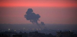 Israel attacked Hamas in the Gaza Strip