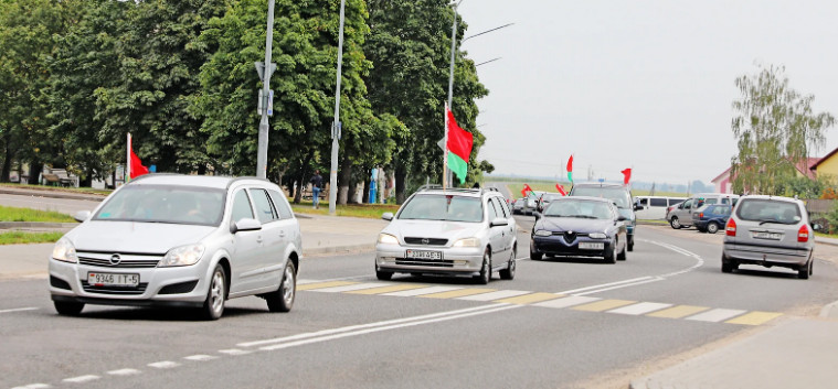 Car rally in support of Lukashenka starts near Minsk