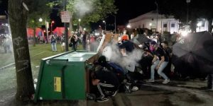 Clashes between police and protesters in Rochester, USA