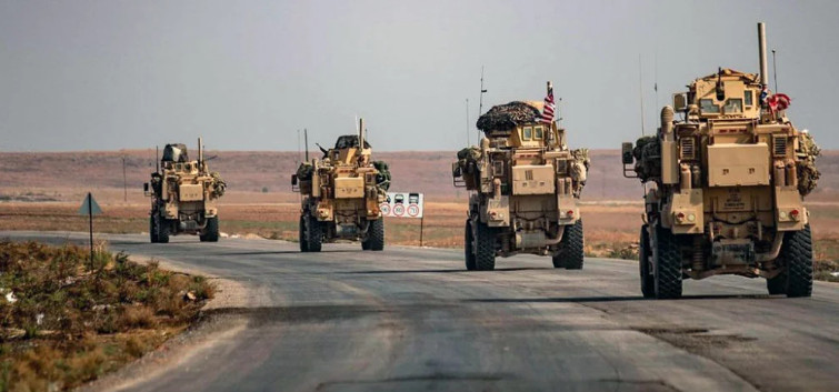 Column of American technology entered from Iraq into Syria