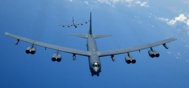 Three US Air Force bombers are flying towards Ukraine to participate in a military operation