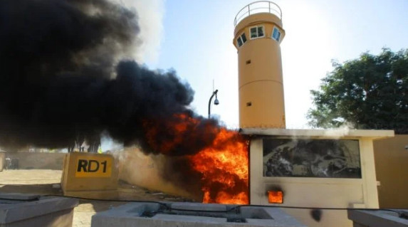 The area of the Baghdad airport came under rocket fire