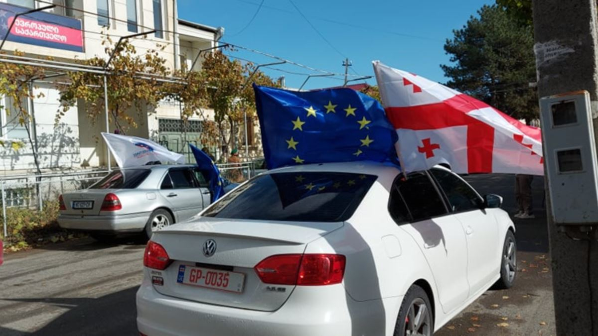 Disagreement on parliamentary election results started in Tbilisi