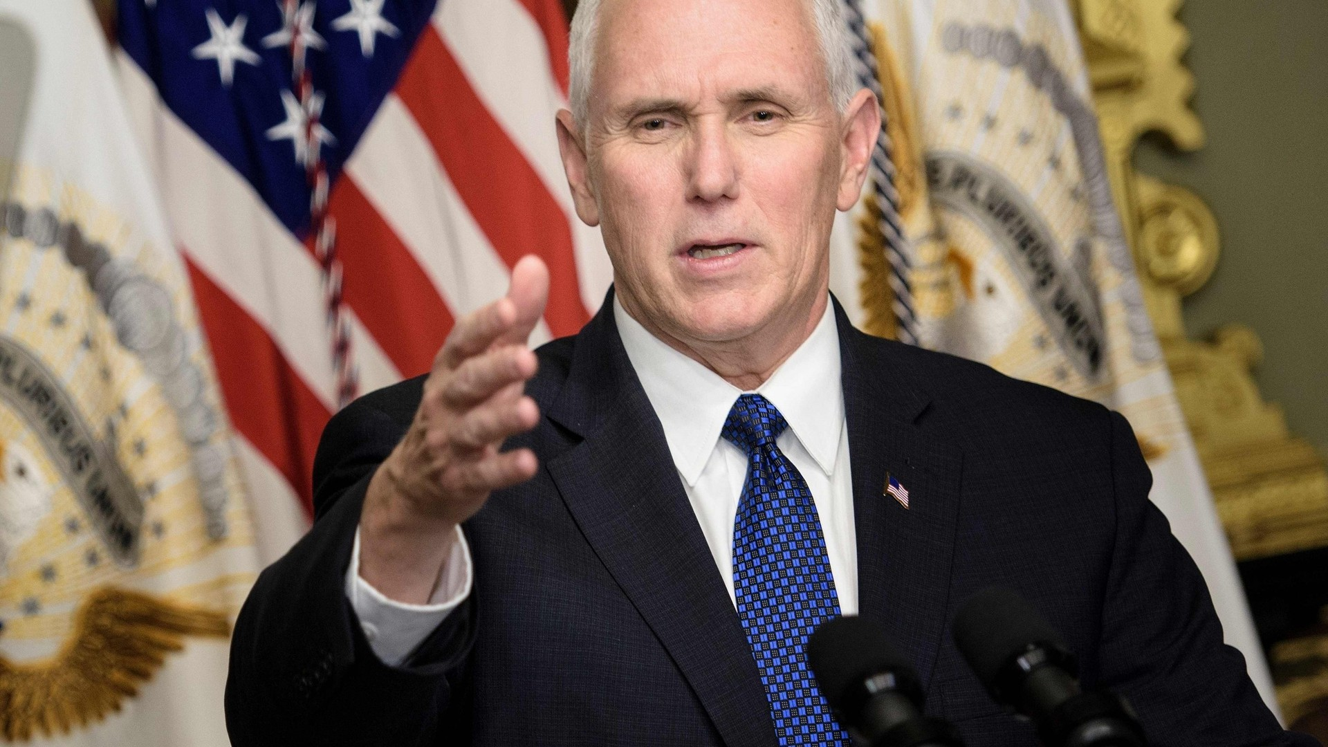Pence says US threats in space from Russia and China are escalating