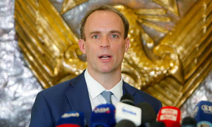 Dominic Raab calls for ceasefire to ensure vaccination against Covid