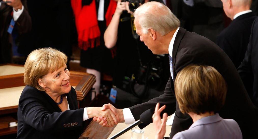 To please Biden, Merkel pledged to increase German military spending