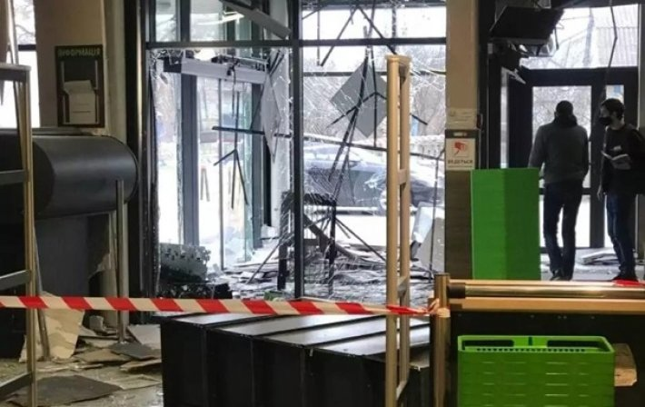 Criminals blew up an ATM in Kiev and stole over 100 thousand hryvnias