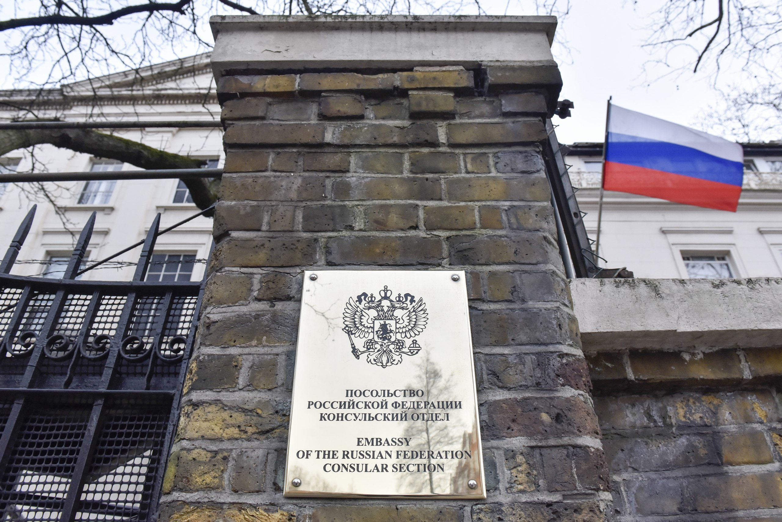 "Russian Embassy calls Britain's allegations of ""malign activity"" by Russian special services unfounded"