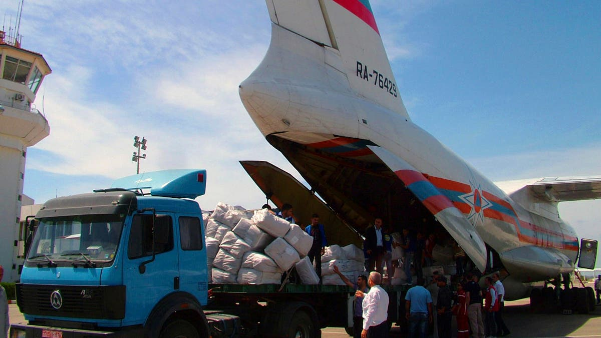 Aircraft of the Russian Emergencies Ministry with a cargo of humanitarian aid landed in India