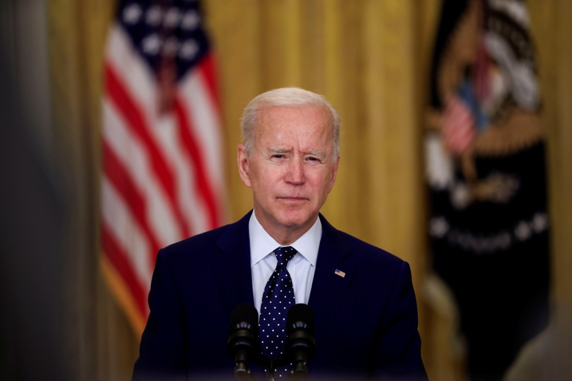 Biden's speech was interrupted by shouts of protesters. President replied