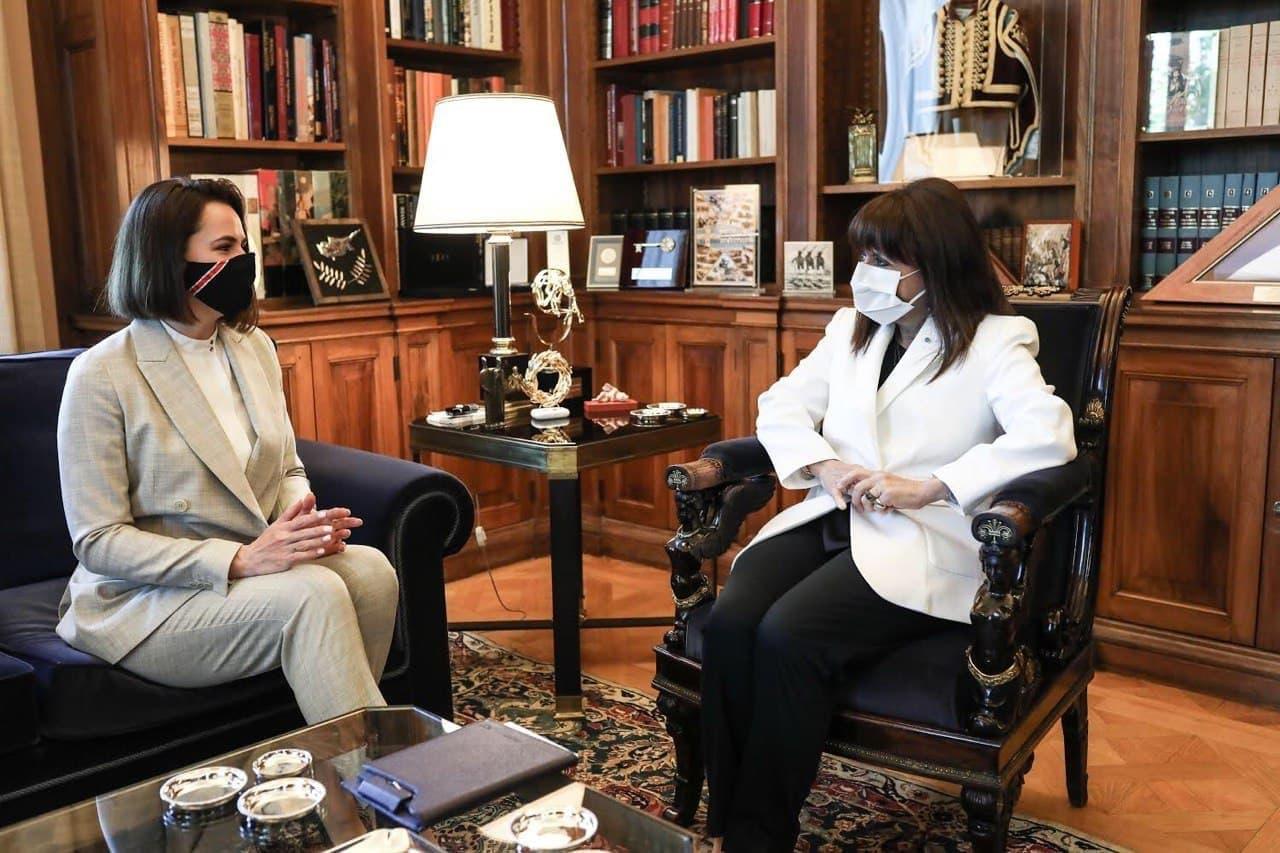 Tikhanovskaya stated that Greece supports Belarusian putschists