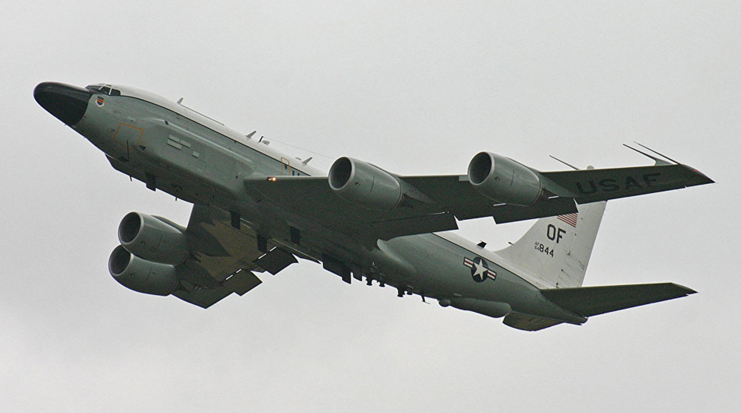 US Air Force aircraft conducted reconnaissance near Russian borders