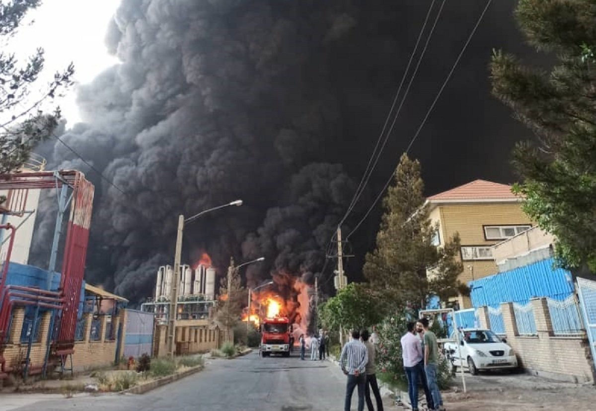 There was an explosion at a chemical plant in Iran