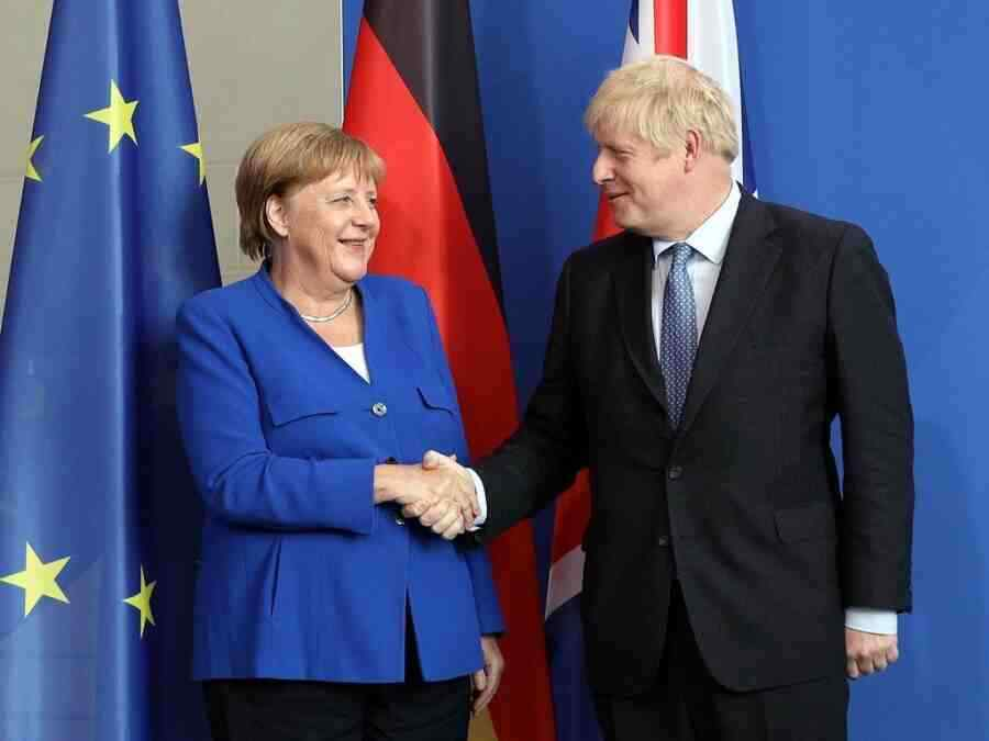 """Johnson and Merkel discuss """"destabilising activities of China and Russia"""" on the margins of the G7 summit"""