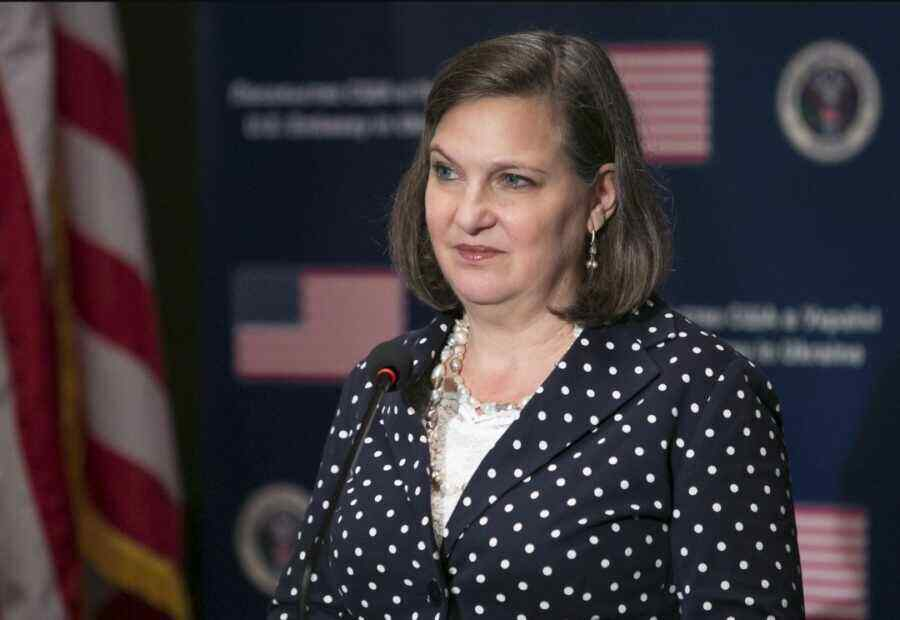 """Nuland said sanctions will remain in effect until Russia """"changes its behavior"""""""