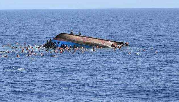 A boat carrying migrants sank off the coast of Libya, killing around 60 people