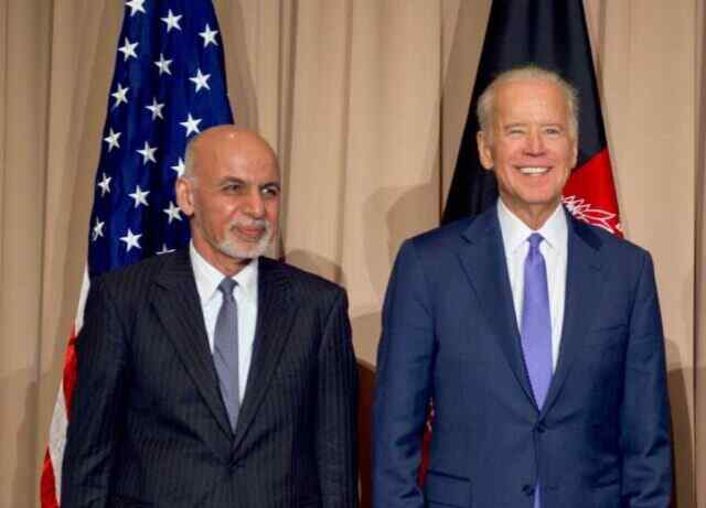 Biden and Ghani say Taliban offensive at odds with their declarations of peace