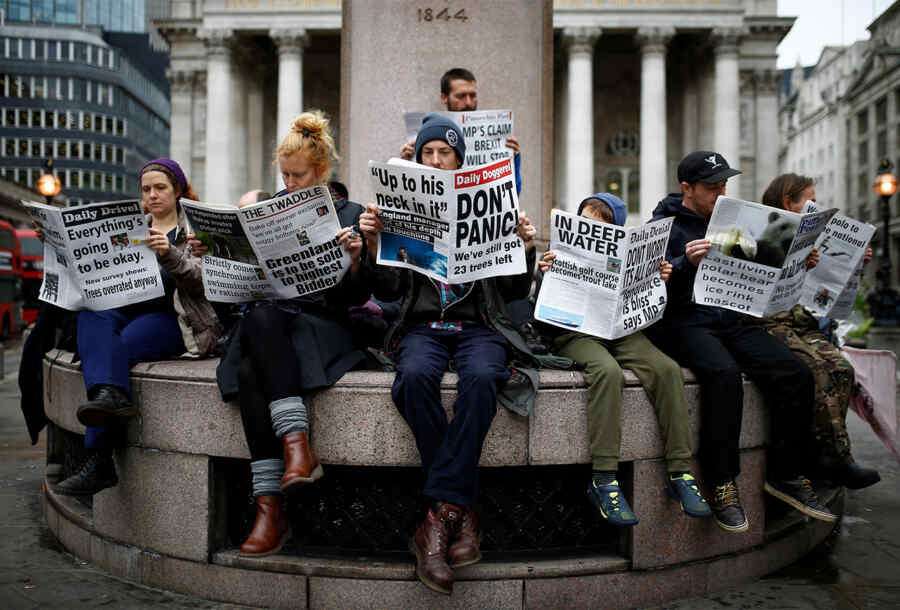 In Britain, journalists were threatened with jail for publishing compromising evidence on the government
