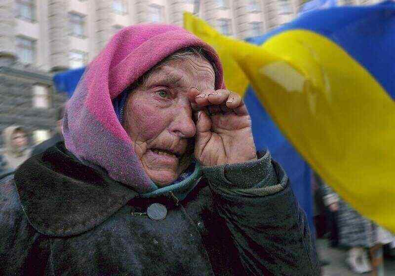 Ukrainians accused the authorities of trying to destroy the people