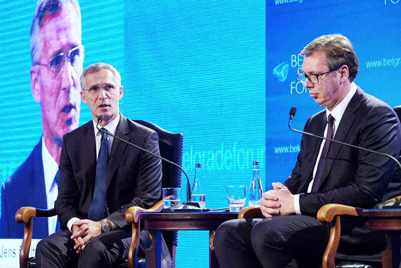 Vucic tells NATO secretary general about the occupation of northern Kosovo by Pristina special forces