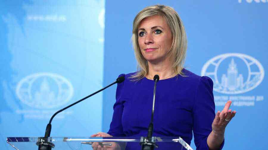 Zakharova says if NATO pushes to open Afghanistan's borders, Europe will not be satisfied