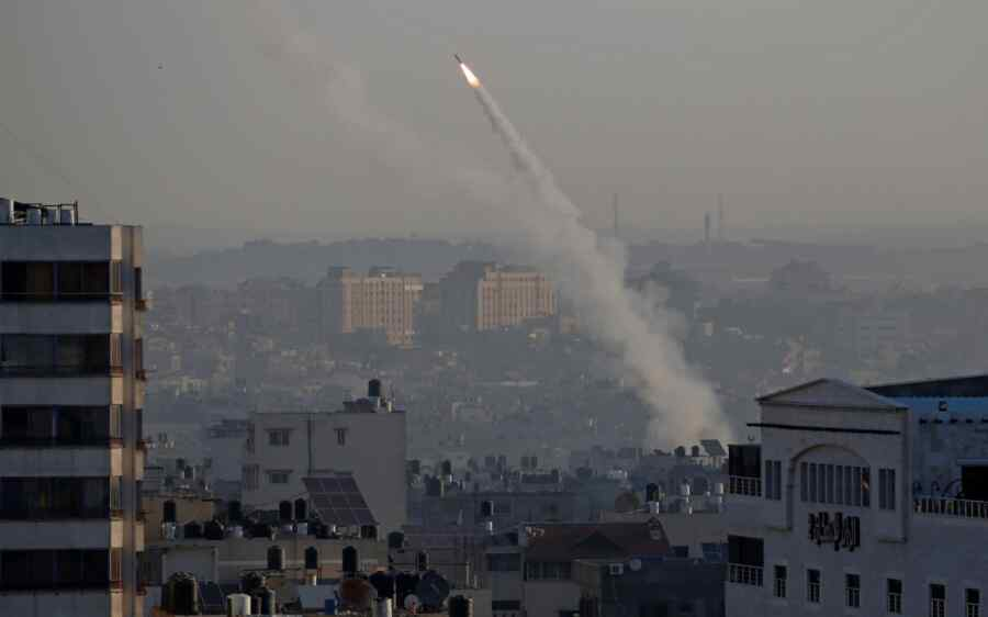 Israeli army intercepts a missile fired from the Gaza Strip