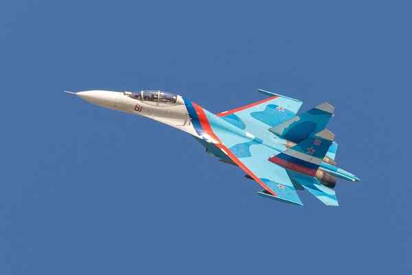 US Command congratulated its Air Force with the logo with the Su-27 fighters