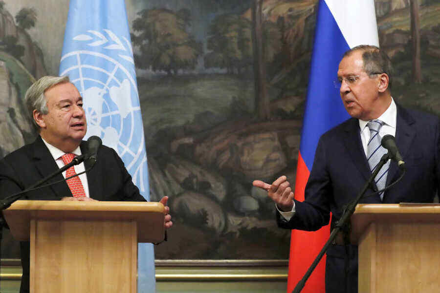 Lavrov and Guterres discuss situation in Ukraine and Afghanistan