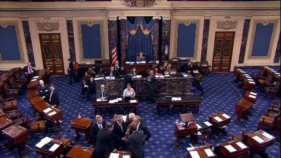 US Senate approved a bill to temporarily increase the national debt