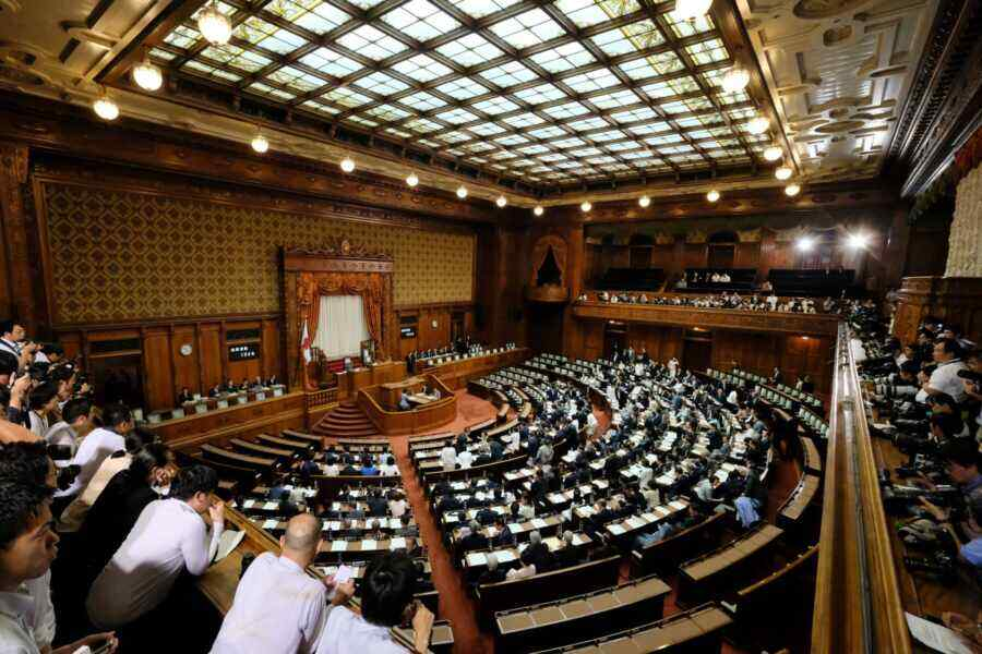 Japan's lower house of parliament dissolved with the Emperor's approval